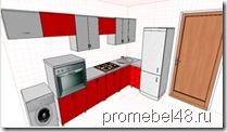 проект кухни в pro100