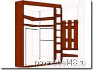 проект шкафа в угол